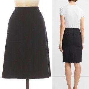 Theory black wool pencil skirt size 4
